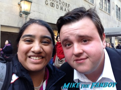 John Bradley signing autographs at Game of Thrones the Exhibition in new york city rare promo hot rare