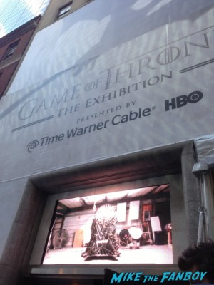 Game of Thrones the Exhibition in new york city rare promo hot rare