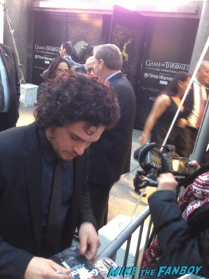 Kit Harington signing autographs at Game of Thrones the Exhibition in new york city rare promo hot rare