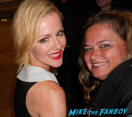 Kathleen Robertson fan photo signing autographs for fans rare promo 90210 star