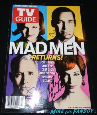 Mad Men TV Guide magazine cover signed autograph christina hendricks jon hamm john slattery elisabeth moss
