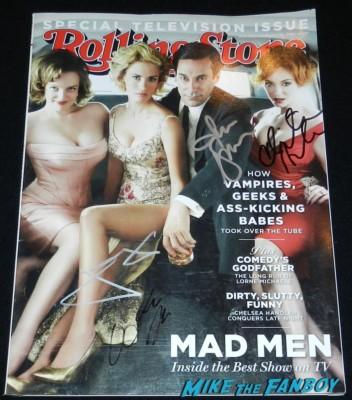 Mad Men rolling stone magazine signed jon hamm january jones elisabeth moss christina hendricks