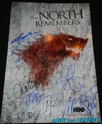 Nikolaj Coster-Waldau signed autograph rare game of thrones mini promo poster hot hot signing autographs dana delany sexy ga 036