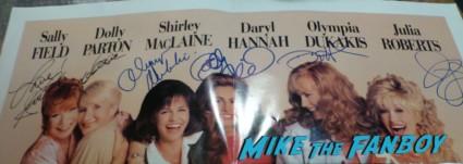 steel magnolias signed autograph one sheet movie poster daryl hannah sally field julia roberts shirley maclaine olympia dukakis