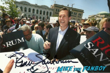 Rick Santorum signed autograph press promo photo hot rare