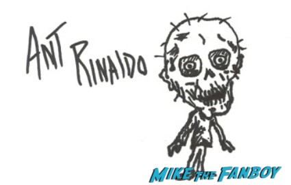 Ant Rinaldo signed autograph zombie promo photo art