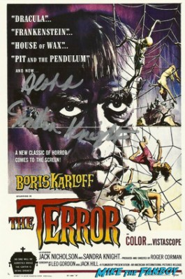 Sandra Knight signed autograph the terror rare promo movie poster hot