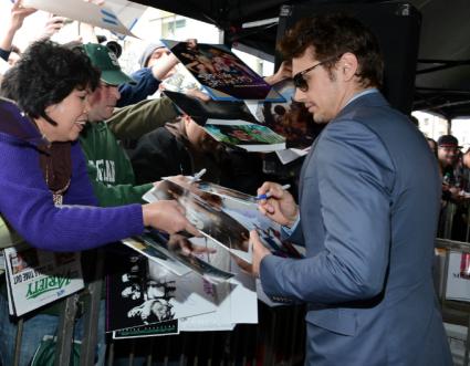 James Franco signing autographs walk of fame star ceremony hollywood boulevard