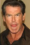 Pierce Brosnan angry and mean rare headshot rare promo in his car signing autographs for waiting fans rare promo shocked face hot sexy 007 star rare remington steele