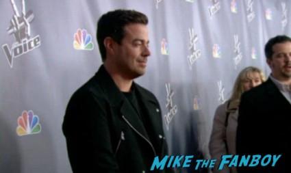 Carson Daly arriving at The Voice Season 4 premiere christina aguilera blake shelton usher red carpet premiere
