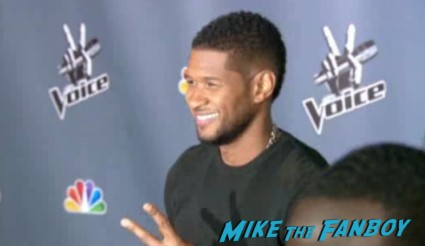 Usher arriving at The Voice Season 4 premiere christina aguilera blake shelton usher red carpet premiere