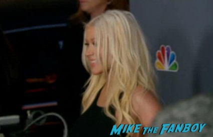 Christina Aguilera hot and sexy red carpet at The Voice Season 4 premiere christina aguilera blake shelton usher red carpet premiere