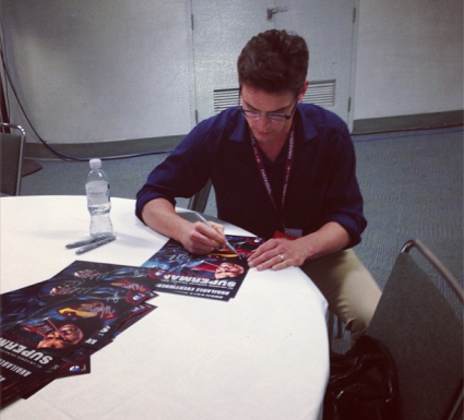 Matt Bomer signing autographs for fans at wondercon 2013 in anaheim hot magic mike white collar star