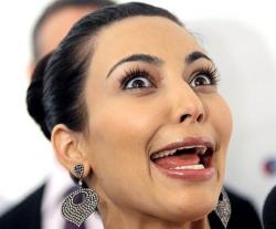 Kim Kardashian weird crazy face rare promo giant eyes rare promo