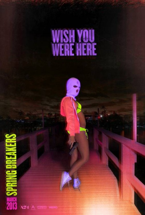 Spring Breakers hot sexy movie poster promo one sheet teaser poster naked vanessa hudgens sexy dance