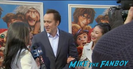 nicholas cage red carpet The croods movie premiere new york photo gallery red carpet 2