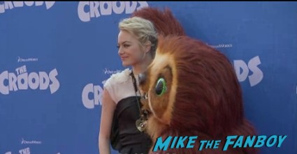 emma stone red carpet The croods movie premiere new york photo gallery red carpet 2