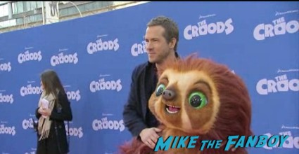 ryan reynolds red carpet The croods movie premiere new york photo gallery red carpet 2