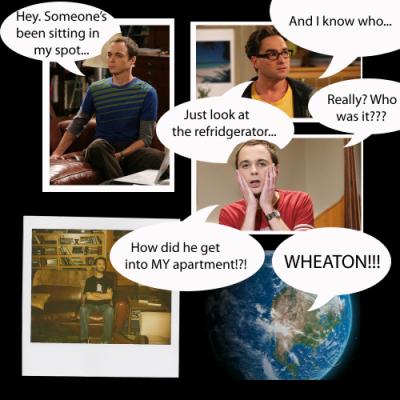 Wil Wheaton sheldon cooper gif image graphic rare promo big bang theory rare