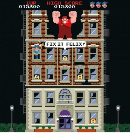 Wreck-It-Ralph-game video game rare promo Walt Disney's wreck it ralph title logo rare promo hot