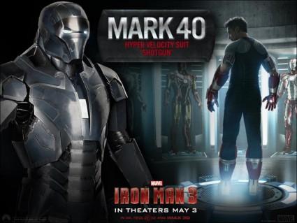 Iron Man 3 MArk 40 suit design graphic tony stark rare promo hot suit