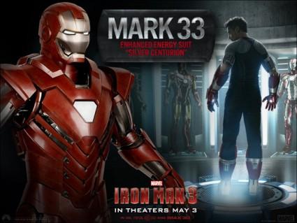 Iron Man 3 MArk 33 suit design graphic tony stark rare promo hot suit