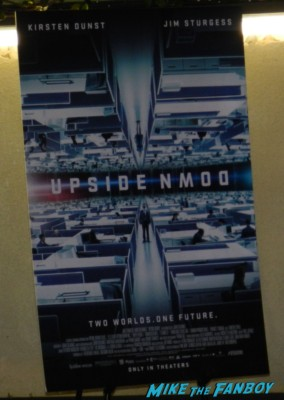 Upside down q and a movie poster report jim sturgess signing autographs for fans