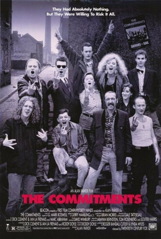 the commitments rare promo pne sheet movie poster irish bar band