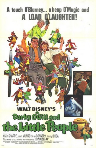 darby_o_gill_and_the_little_people rare promo one sheet movie poster walt disney classic