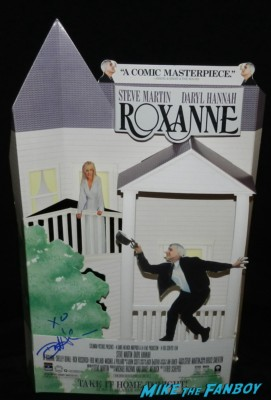 roxanne signed autograph counter standee daryl hannah rare promo daryl hannah signing autographs for fans 012