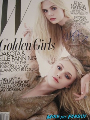 elle fanning signed autograph w magazine dakota fanning rare promo hot magazine cover rare