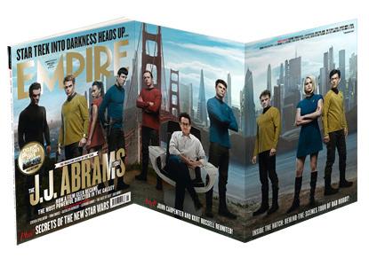 Empire Magazine Star Trek Into Darkness magazine cover chris pine jj abrams zachary quint zoe saldana hot rare promo