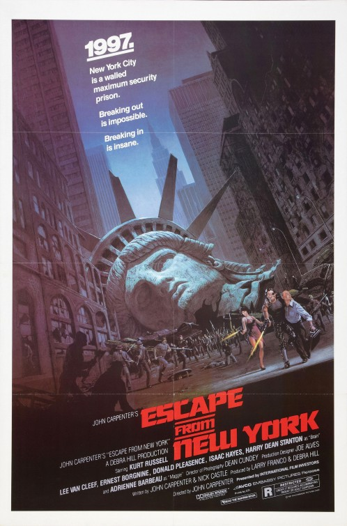 escape_from_new_york rare movie poster one sheet kurt russell hot escape from new york logo Snake Plissken escape from new york movie poster promo rare one sheet movie poster kurt russell