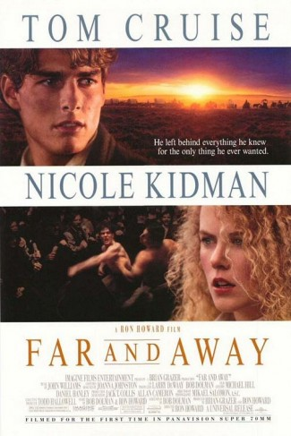 far_and_away_ver1 rare promo one sheet movie poster hot tom cruise nicole kidman