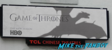 The Game Of Thrones World Premiere rare sign dragons game of thrones world premiere chinese theater in hollywood 001