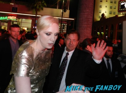 Gwendoline Christie signed autograph season 3 poster signing autographs at the Game Of Thrones Premiere After Party Cluster! With Lena Headey! Peter Dinklage! Nikolaj Coster-Waldau! Isaac Hempstead Wright! Gwendoline Christie! Charles Dance! Natalie Dormer! George R.R. Martin! Rory McCann! Autographs! Photos! Insanity! game of thrones world premiere chinese theater in hollywood 037