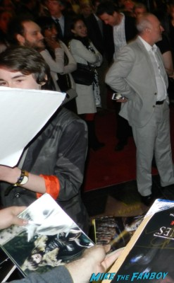 Isaac Hempstead Wright signed autograph season 3 poster signing autographs at the Game Of Thrones Premiere After Party Cluster! With Lena Headey! Peter Dinklage! Nikolaj Coster-Waldau! Isaac Hempstead Wright! Gwendoline Christie! Charles Dance! Natalie Dormer! George R.R. Martin! Rory McCann! Autographs! Photos! Insanity! game of thrones world premiere chinese theater in hollywood 037
