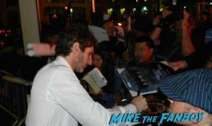 d.b. weiss signing autographs at the Game Of Thrones Premiere After Party Cluster! With Lena Headey! Peter Dinklage! Nikolaj Coster-Waldau! Isaac Hempstead Wright! Gwendoline Christie! Charles Dance! Natalie Dormer! George R.R. Martin! Rory McCann! Autographs! Photos! Insanity! game of thrones world premiere chinese theater in hollywood 037