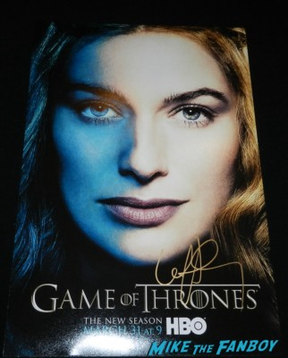 lena headey signed autograph season 3 poster signing autographs at the Game Of Thrones Premiere After Party Cluster! With Lena Headey! Peter Dinklage! Nikolaj Coster-Waldau! Isaac Hempstead Wright! Gwendoline Christie! Charles Dance! Natalie Dormer! George R.R. Martin! Rory McCann! Autographs! Photos! Insanity! game of thrones world premiere chinese theater in hollywood 037