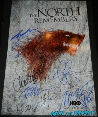 game of thrones signed autograph the north remembers cast poster rare autographs at the Game Of Thrones Premiere After Party Cluster! With Lena Headey! Peter Dinklage! Nikolaj Coster-Waldau! Isaac Hempstead Wright! Gwendoline Christie! Charles Dance! Natalie Dormer! George R.R. Martin! Rory McCann! Autographs! Photos! Insanity! game of thrones world premiere chinese theater in hollywood 037