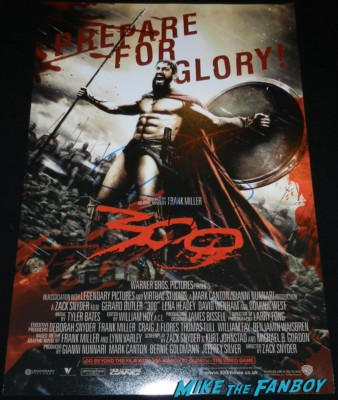 gerard butler signed autograph 300 promo mini movie poster rare signing autographs for fans hot sexy 300 star rare 026