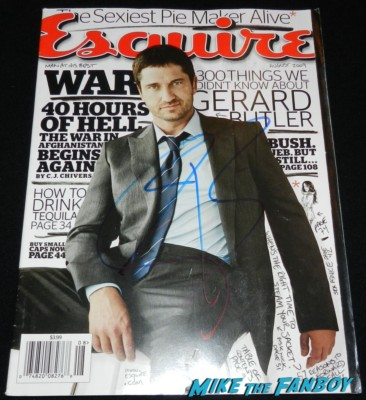gerard butler signed autograph rare esquire magazine cover promo hot signed autograph 300 promo mini movie poster rare signing autographs for fans hot sexy 300 star rare 026