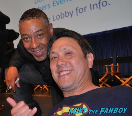 Giancarlo Esposito signing autographs for fans  at the revolution paleyfest 2013 panel