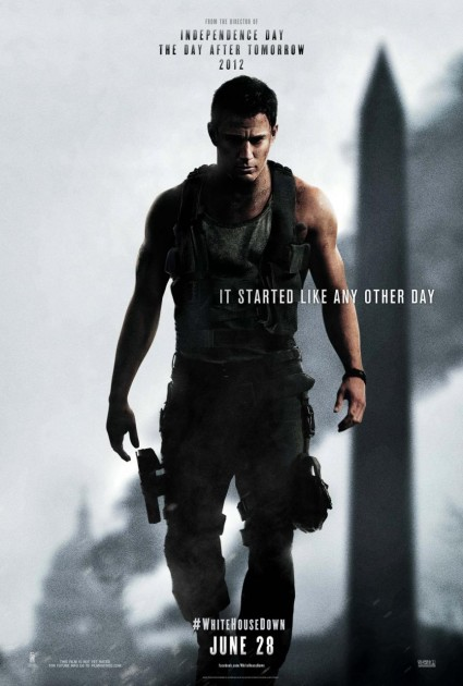 hr_White_House_Down_12 white house down rare one sheet movie poster rare promo hot sexy logo tag line channing tatum hot sexy muscle flex arms damn sexy