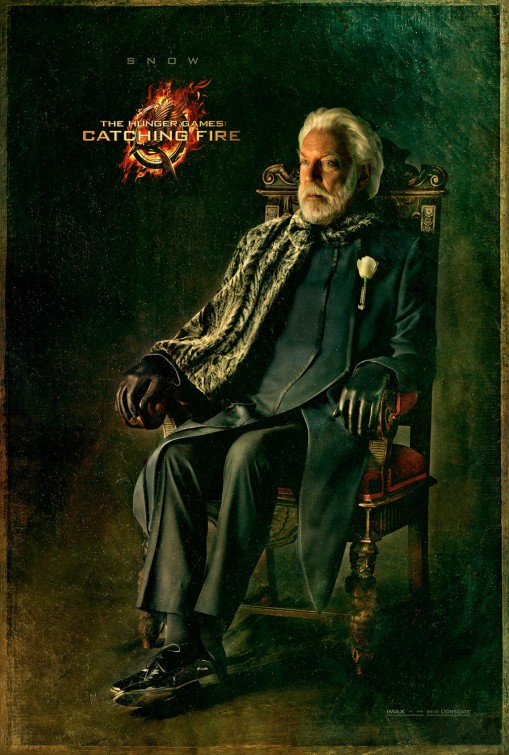 Donald Sutherland hunger games catching fire capital city portrait movie poster promo rare hunger_games_catching_fire_ver14