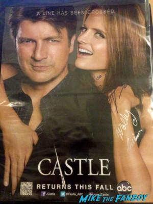 Seamus Dever signed autograph castle promo poster fan photo signing autographs rare hot sexy castle star abc promo rare