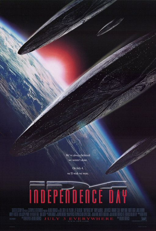 Independence Day ID4 rare promo movie poster one sheet rare hot will smith jeff goldblum rare independence_day_ver2