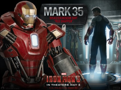 iron man 3 new suit Mark 35 rare one sheet promo suit rare robert downey jr. hot iron-man-35-la-3-27-13