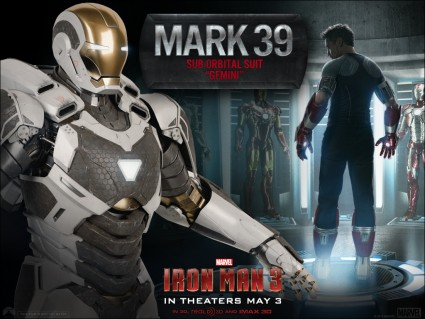 iron man 3 new suit Mark 39 rare one sheet promo suit rare robert downey jr. hot iron-man-35-la-3-27-13