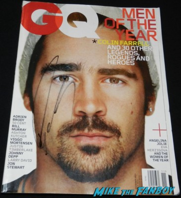 colin farrell signed gq magazine men of the year cover rare promo colin farrell signing autographs for fans Meeting The Awesome Colin Farrell At The Dead Man Down Premiere! With Terrence Howard! But Getting Dissed By Noomi Rapace! Autographs! Photos! And More!